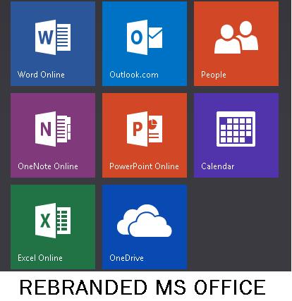 rebranded ms office