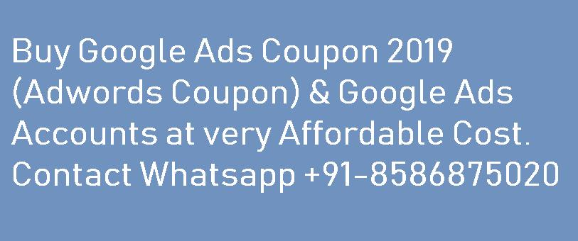 Google Ads Coupon 2019